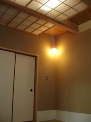 唐橋の家/光天井の茶室
