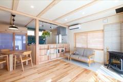 外断熱のため、屋根いっぱいまで空間を使用しても、2階に熱がこもりません。