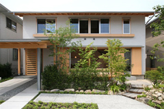 モデルハウス「森の聲」県産材使用率90%以上。