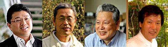 講師陣と司会:左から斉藤雅也氏、武部豊樹氏、荏原幸久氏、小池一三(司会)